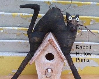 PreHalloweenSale Primitive Cat on Birdhouse