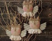 Primitive Christmas Angel Cat Ornie PATTERN, Ornament Pattern, Folk Art