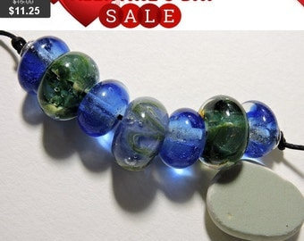 Lampwork Borosiicate Beads AQUARIUS Two Sisters Designs 092315A