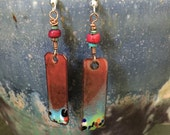 Reserve Listing For Sherry- Torch Fired Enamel Earrings