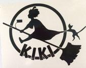 Kiki's Delivery Service inspired  vinyl sticker decal car window sticker