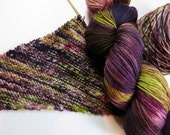 Hand Dyed Superwash Sock Yarn in Choice of Fingering Bases -- Nasty Rag (Ravelry Rubberneckers)