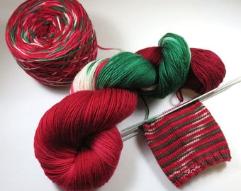 Handpainted Ultra Merino Superwash 3-ply Sock/Fingering -- Red Cup Controversy