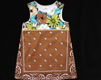 Size 6 brown bandana jumper dress