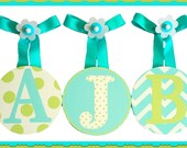 Girls Baby Nursery hanging Round Wall letters