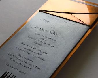 Custom Wedding Invitation Metal Artwork