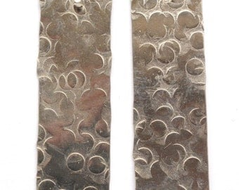Handmade Nickel Silver Earring Components - 2 pieces EC167