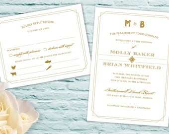 Golden Gate Bridge Wedding Invitations