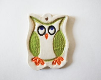 Owl ornament - gift box included - Pottery Ornament