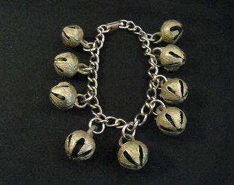 Vintage Gold Bell Bracelet