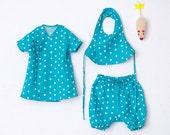 Nani Iro Japanese sewing pattern - Baby's set - kimono top, pants, bib