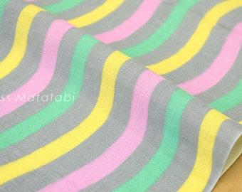 Japanese Fabric Kobayashi Waves double gauze - grey - 50cm