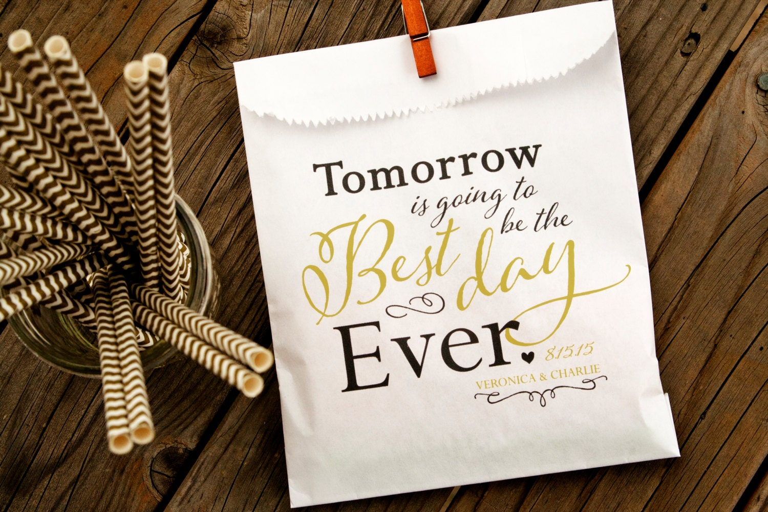 Wedding Rehearsal Dinner Gifts: Tomorrow Is Going To Be The Best Day Ever Wedding Rehearsal
