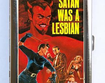 Satan was A Lesbian  Cigarette Case Wallet Business Card Holder pulp weird