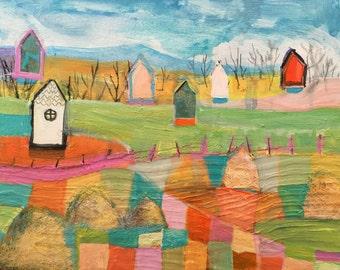 Original painting by Michelle Daisley Moffitt....Farmland