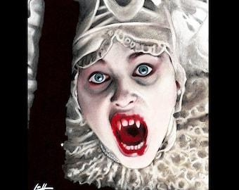 "Print 11x14"" - Lucy Westenra- Gary Oldman Bram Stoker Vampire Blood Winona Ryder Pop Art Lowbrow Art Gothic Sadie Frost Creature Dark Art"