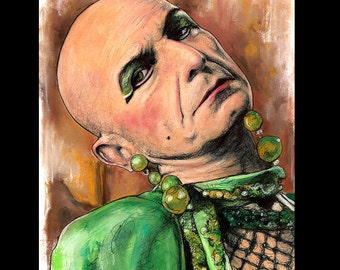 "Print 8x10"" - Liz Taylor - American Horror Story Hotel Nick Pryor Denis O'Hare Evan Peters Lady Gaga Countess Dark Art Horror Mr. March Pop"