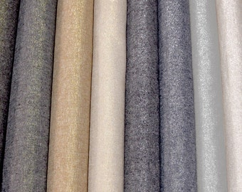 Robert Kaufman ESSEX Yarn Dyed METALLIC Linen Cotton Blend  fabric by the 1/2 yard