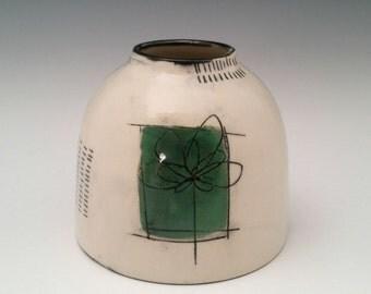 Chubster Vase Ceramic Vase, Modern Pottery Vase, Small Chunky Vase with Minimalist Design