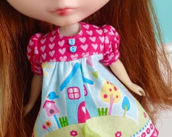 Smock Dress for Blythe - Happy Home