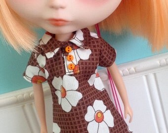 Blythe Dress - The Twiggy in Brown