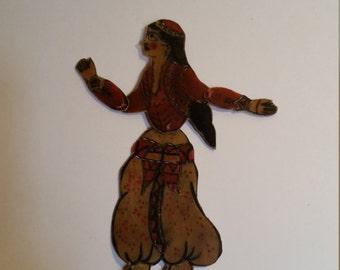 Karagöz Lady Turkisk Shadow Puppet