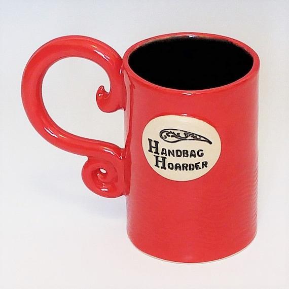 SALE - 50% OFF - Large Coffee Mug - Mug - Coffee Cup - Large Mugs - Ceramic Coffee Mugs - Red Coffee Mug - Ceramic Mug - Funny Mug - Handbag