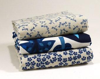Bundle 3 different Japanese Fabrics 1/2 yard