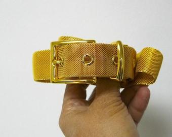 80s Century Canada gold mesh belt
