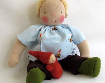 handmade doll, 12 inch (30cm) Waldorf doll, Steiner doll