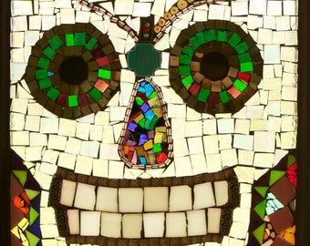 Sugar Skull Stained Glass Mosaic