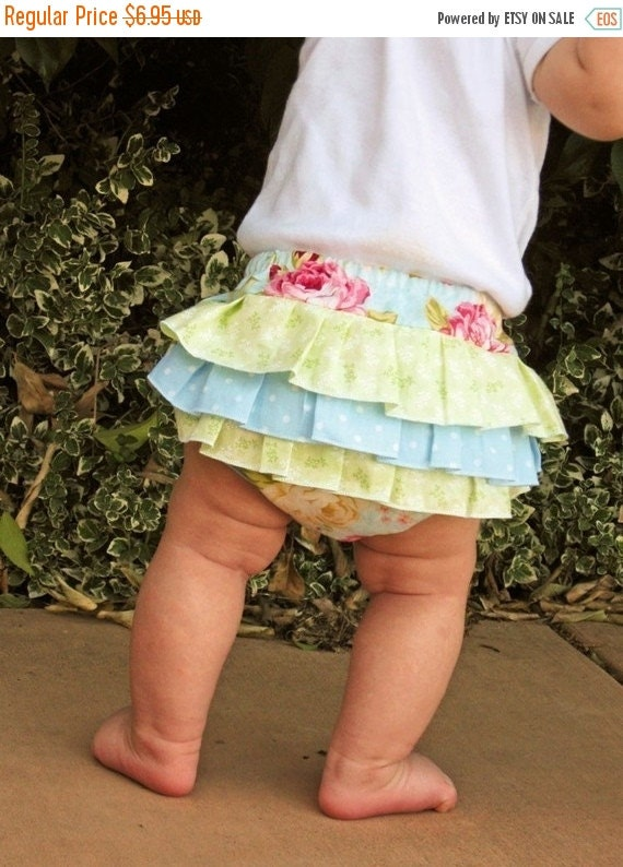 30% OFF PDF Sewing Pattern Fancy Ruffled DIAPER Cover  - Ruffle Back Bloomers Baby sewing pattern