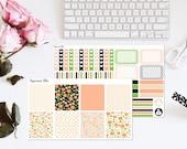 Vintage floral Planner Sticker Kit Erin Condren Horizontal Stickers