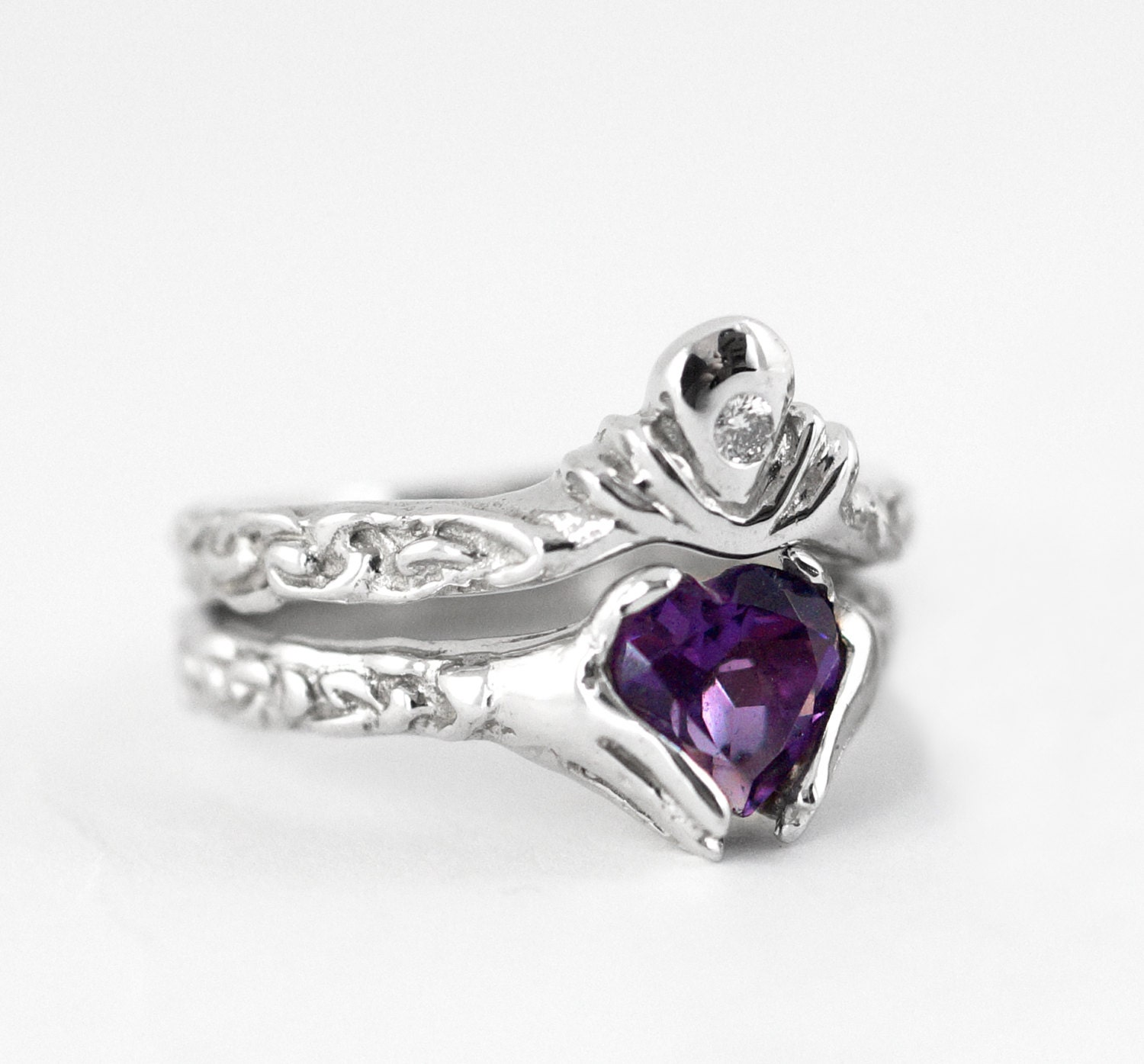 Awesome graph Claddagh Engagement Ring Sets Ring Ideas