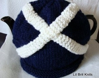 Scottish Flag Knitted Tea Cosy
