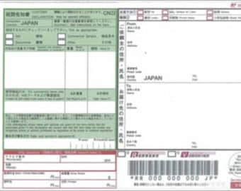 Fee for Japan Post Registered Mail with Tracking Number