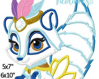 Wind Princess Pet Machine Embroidery Applique Embroidery Pattern 5x7 6x10 7x11 INSTANT DOWNLOAD