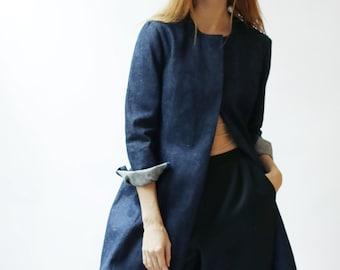 Sample SALE denim long sleeve jacket.