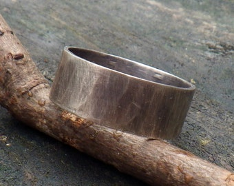 Distressed sterling silver Men's ring