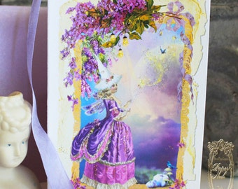 Fairy Godmother Bippity Boppity Boo Folding Card with Shimmering Lilac Envelopes Set of 6
