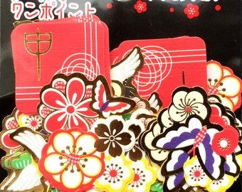 2016 Stickers - New Year Stickers - Plum Blossom Stickers - Chiyogami Stickers - Japanese Stickers - Kanji Stickers - Monkey