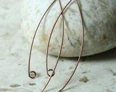 Antique copper almond shape earwire size 50x18mm, 6 pcs (item ID MYHTYAC)