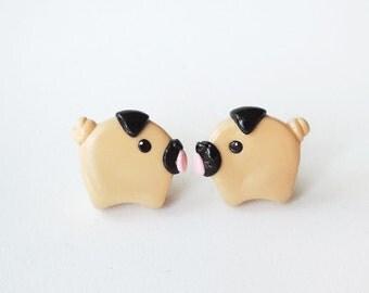 Little Chubby Pug Stud Earrings