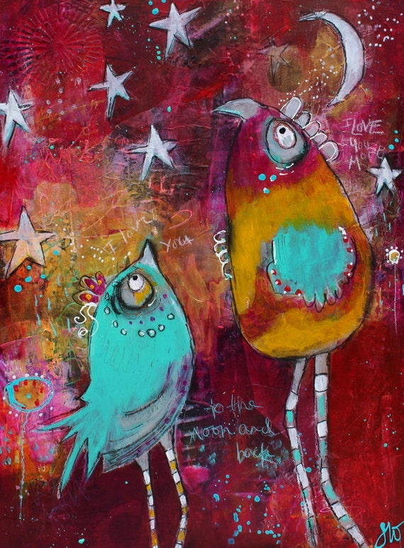 dirty paint paint whimiscal birds jam packed online painting course in
