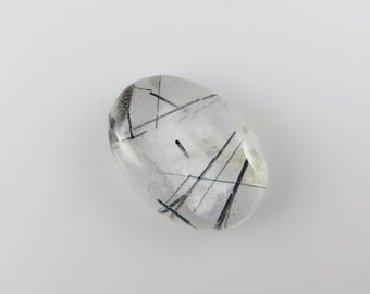 Tourmalated Quartz - Oval Cabochon, 20.50 cts - 16x22 (TQ185)