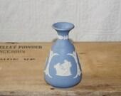 Vintage blue Jasper Wedgwood  bud vase