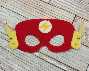 Flash Mask - felt Flash mask for Parties, Halloween, Dress-up Play, Flash Halloween Mask, Flash Halloween Costume
