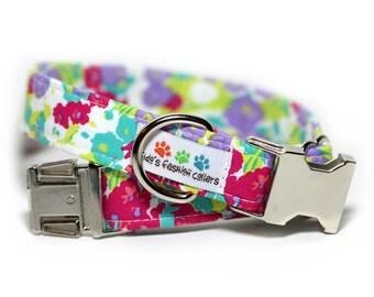 Floral Dog Collar, Flower Collar, Petal Pusher