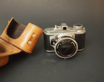 Free Shipping Photavit Small Camera with Leather Case Made in Germany Vintage Film 35mm