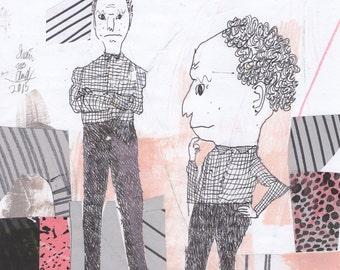 Men Again (original drawing, 2015)